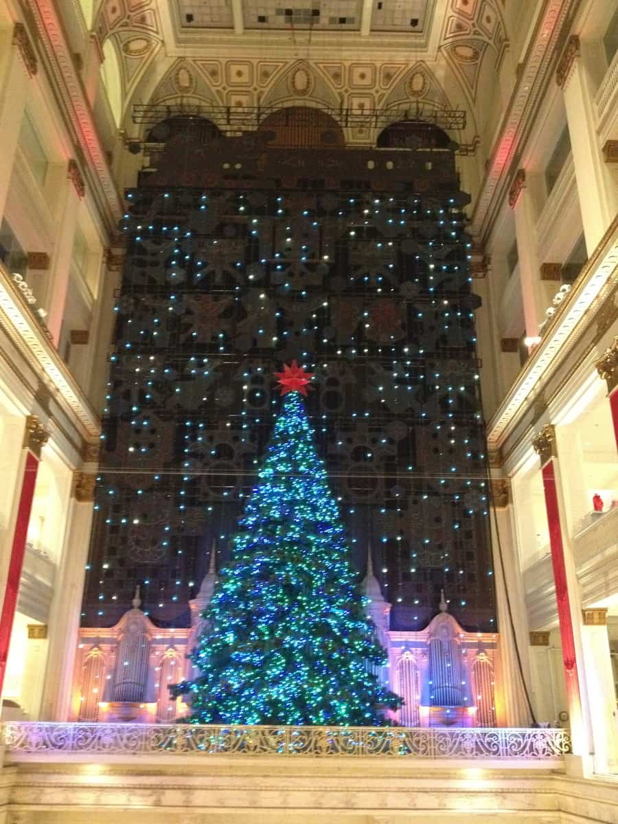 Since 1956 the historic department store Wanamakers has been entertaining shoppers with its festive holiday light and music show,