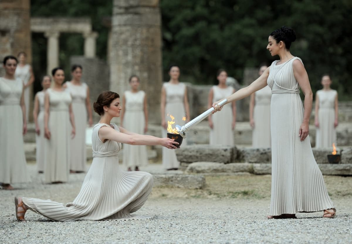 Olympic Flame for the London 2012 Games is lit in Ancient Olympia