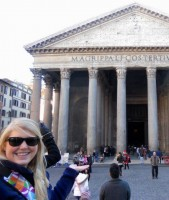 Kate Seybold in Rome