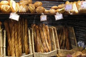 baguette on display