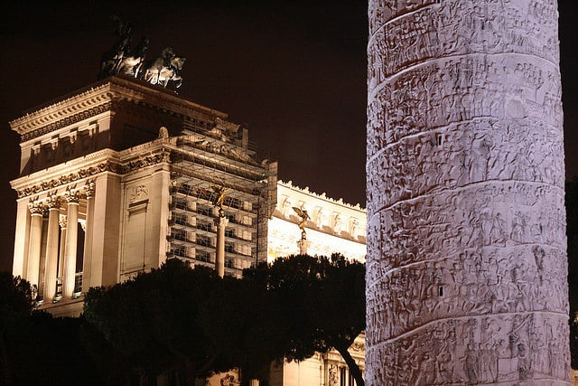 Trajan's Column with the Vittoriano in the Background