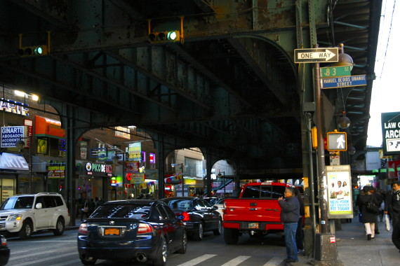 Dozens of ethnically diverse and independent businesses line Roosevelt Avenue beneath the 7 train