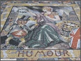 'Humour' mosaic in the entrance vestibule at the National Gallery
