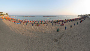 Panoramic view of Santa Marinella beach