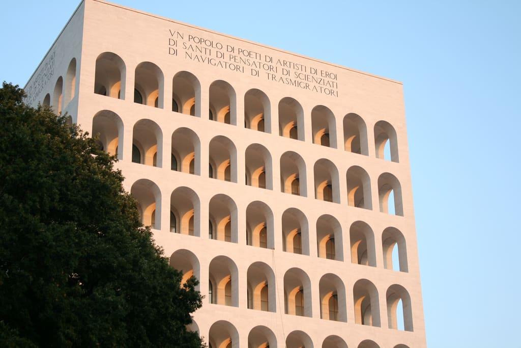 """Palazzo della Civiltà del Lavoro (known as the """"Square Colosseum"""")"""