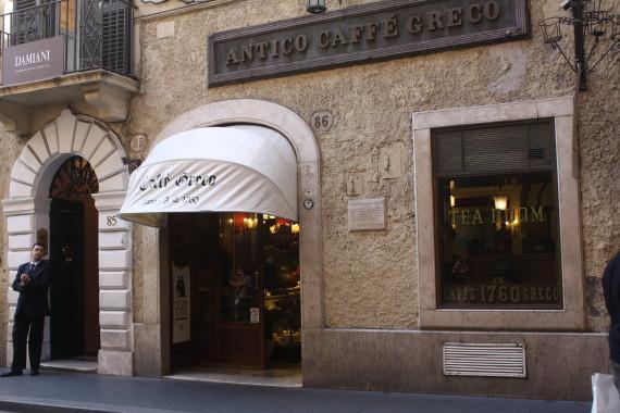 Antico Caffe Greco on via dei Condotti