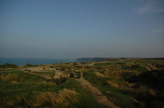 WWII bomb craters at the Pointe du Hoc, west of Omaha Beach