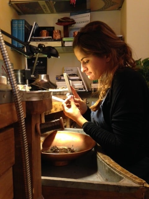 Ludovica at work