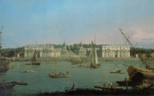 Canaletto. 'A View of Greenwich from the River'  (Tate, London)