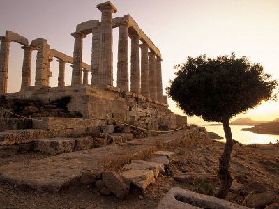Sunset in Sounion