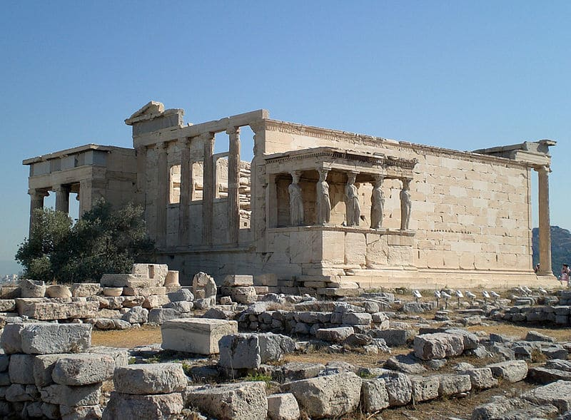 Erechtheion, from the south; via Wiki Commons