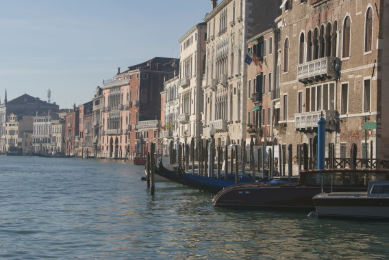 The famous gondola isn't the only way of getting around Venice.