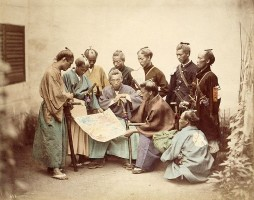 Samurai during the Boshin War period 1860s, via Wikimedia Commons