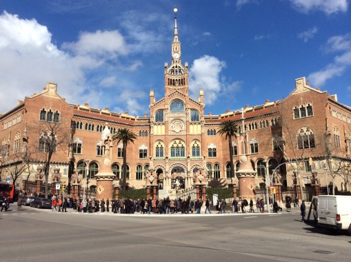 The Hospital de Sant Pau, in the Eixample district, one of our suggestions for where to stay in Barcelona.