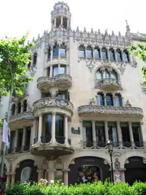 Casa Lleó Morera by  Domènech i Montaner