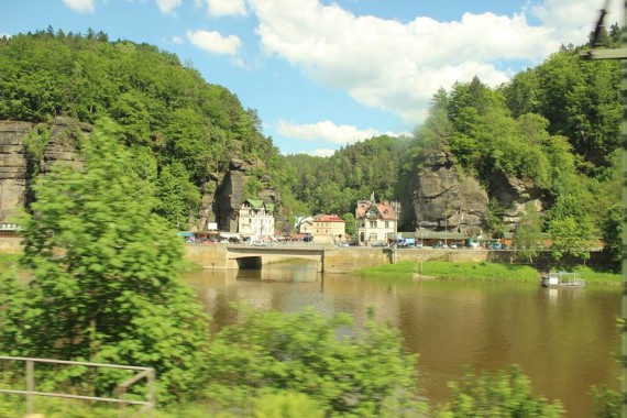 The Elbe River, from a train between Berlin and Prague