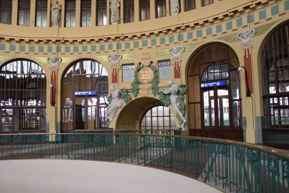 Prague's Art Nouveau train station