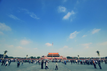 Blue skies over Tiananmen Square