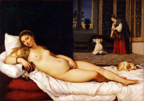 Titian, Venus of Urbino, c. 1538, oil on canvas, Uffizi