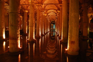 Basilica Cistern, via Wiki Commons