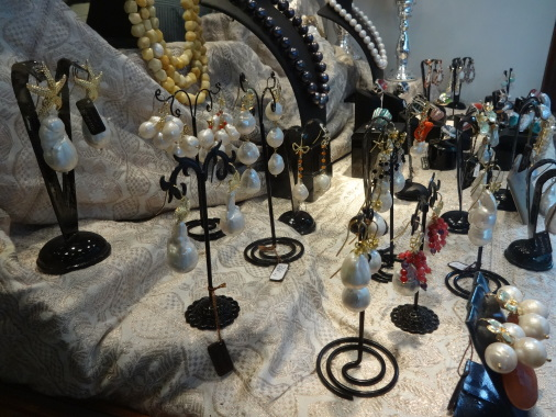 Jewelry inside Massimo Norceino's workshop. Photo by Theresa Potenza.