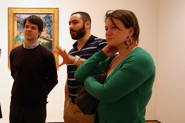 Petulia and Context co-founder Paul Bennett, enjoying our MOMA Seminar led by Prof. Ara Merjian in 2010.