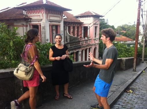 Workshopping walks in Rio with our docents.