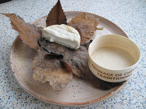 Banon cheese in its chestnut leaf wrapping.
