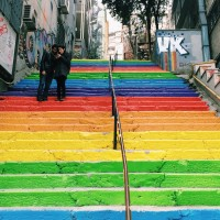 Rainbow Steps in Cihangir