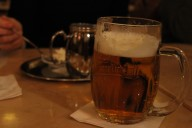 Pilsner Urquell at Cafe Savoy