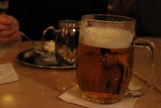 Pilsner Urquell at Cafe Savoy