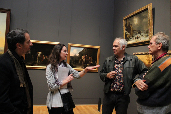 Docents workshopping our Rijksmuseum walk in Amsterdam.