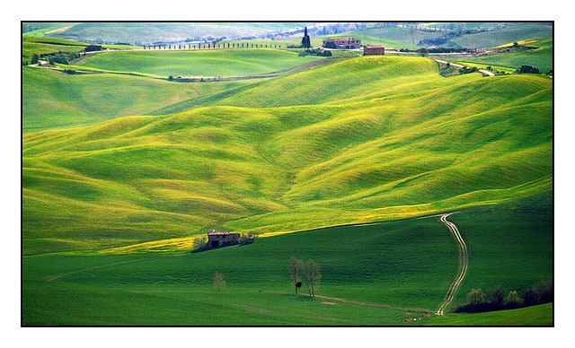 View of the Val d'Orcia