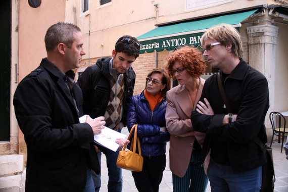 Scientist Luca Zaggia leading our Ecology of Venice walk.