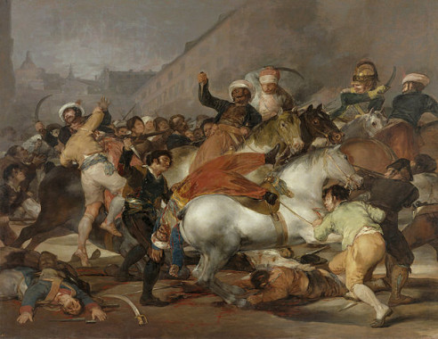 """El dos de mayo de 1808 en Madrid"" by Francisco Goya - Museo del Prado, Madrid. Licensed under Public Domain via Wikimedia Commons."
