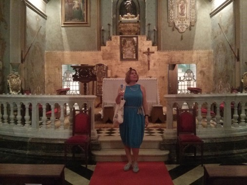 In the church at Hotel Sant Pere del Bosc