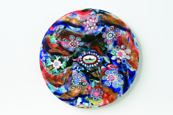 Millefiori Plaque,  Venice, Giovanni Battista Franchini, 1846, Courtesy of Glass Museum of Murano
