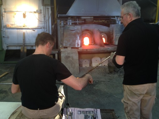 Working at a furnace in Murano