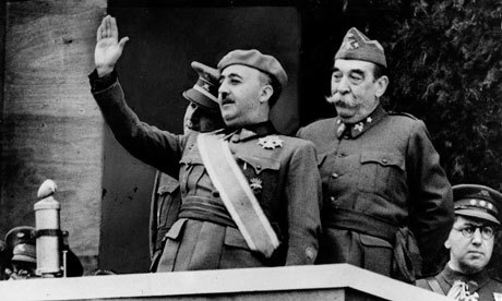 General Fransisco Franco at the Victory Parade celebrating the end of the war, courtesy of Wikimedia Common.