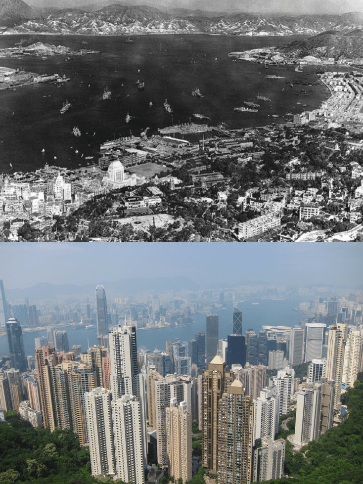 Hong Kong Now and Then  Photo credits: (top) China Mike / (bottom) Lily Heise