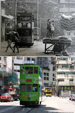 West Central - Kennedy Town Praya in 1980s vs today Photo Credit: HK Man Flickr