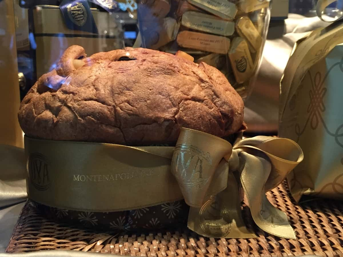 A traditional Panettone from Cova pastry shop.  Photo by Sarah Branduardi for Context Travel