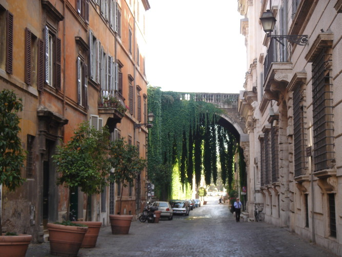 Via Giulia. Michelangelo's Arch