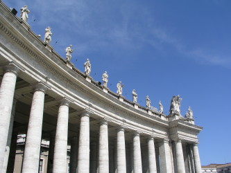 Detail of St. Peter's square colonnades