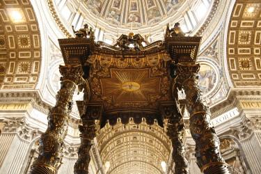 Bernini's baldachin in St. Peter's basilica