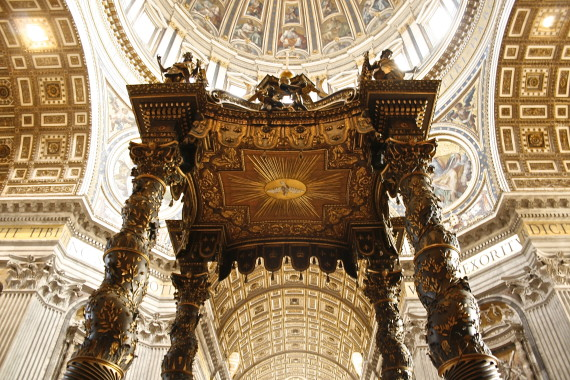 How to Visit the Vatican - Bernini's baldachin in St. Peter's basilica