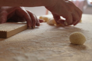 Home made gnocchi by Context docent Patrizia Cantini in Florence