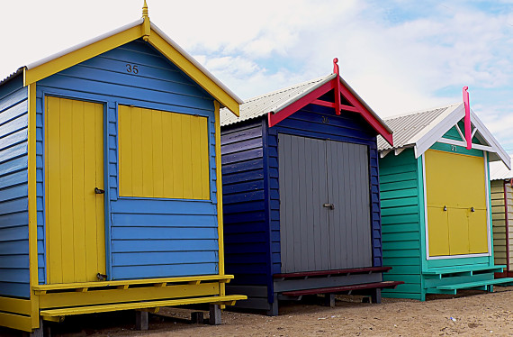 Colorful Boxes at Port Phillip Bay