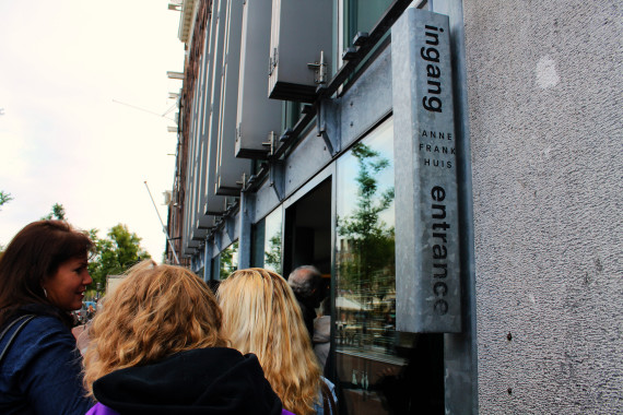 Anne Frank House in the Jewish quarter Amsterdam