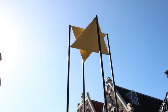 star of David over the Jewish quarter Amsterdam